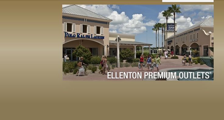 The Ellenton Premium Outlets are located just south of St. Petersburg and feature 130 stores and a beautiful open-air shopping mall, conveniently located close to I-275. #tampabayshopping #stpetersburgshopping #floutletmalls
