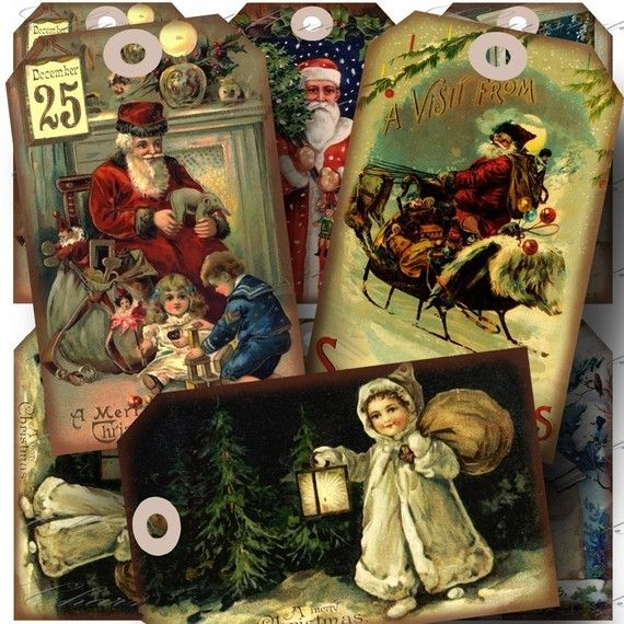 INSTANT Download  Aged Vintage Christmas 3 by CharmedMemoryCollage