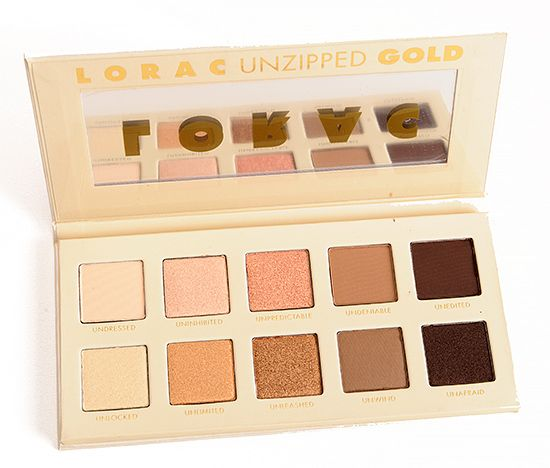 NEW LORAC Unzipped Gold Eyeshadow Palette ($42.00) is new palette for spring that includes ten gold eyeshadows