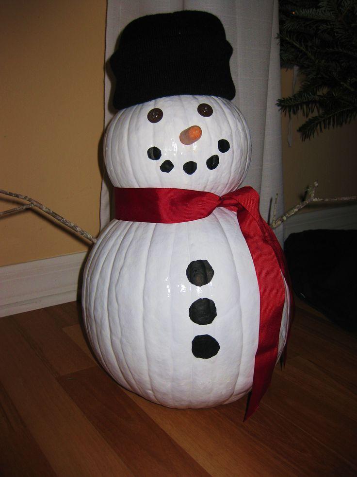 My diy pumpkin snowman christmas decor and other for Snowman design ideas