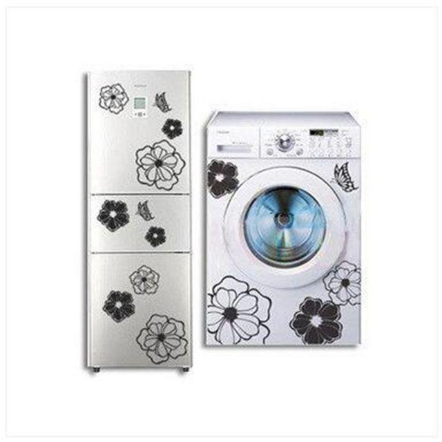 1 adet sihirli çiçekler yaratıcı kişilik yeşil duvar çıkartmaları dolapları buzdolabı çamaşır makinesi çıkartmalar klima