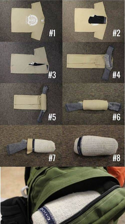 How to fold spare clothes
