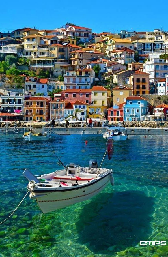 Day 8 - Parga, Mainland Greece - One for those planning a wedding  - you can now marry in Parga town hall and then have a mock ceremony on the beach on in the grounds of the castle - just think of the festivities after - worth getting married for we reckon!