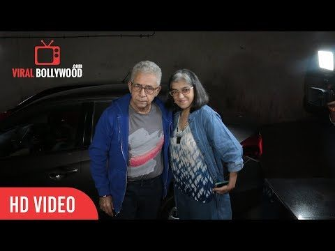Naseeruddin Shah With Wife Ratna Pathak At An Insignificant Man Special Screening | Viralbollywood