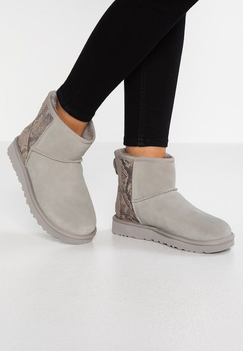 2093b0055d2 CLASSIC MINI METALLIC SNAKE - Classic ankle boots - silver @ Zalando ...