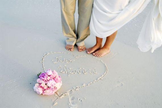 Γάμος και πάρτι στην παραλία