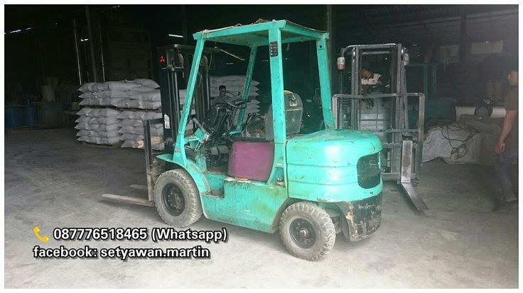 [ FOR SALE ] Forklift Mitsubishi 2.5 Ton, Manual, Lifting Height 3M, Diesel Engine S4S, 📞 087776518465 (Whatsapp)