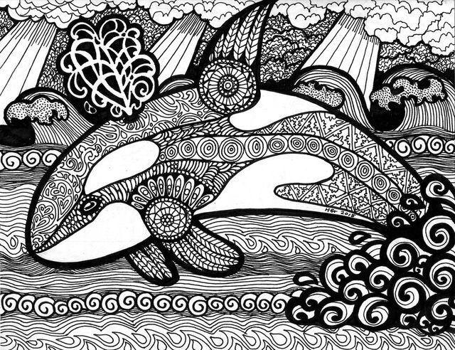 Раскраски.Антистресс. | Раскраски, Дельфины, Зентангл