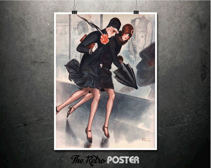La Vie Parisienne - Armand Vallée, 1920s - Art Deco Print, Art Deco Poster, Fashion Print, Fashion Illustration, Ladies Fashion, Womens Gift by TheRetroPoster on Etsy