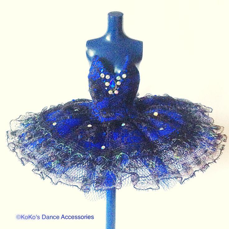 Our new tutu in royal blue and black lace.  #miniaturetutu #minitutu #ballettutu #tutu #ballet #kokosdanceaccessories #balletinoxford #dolltutu #tutufordolls