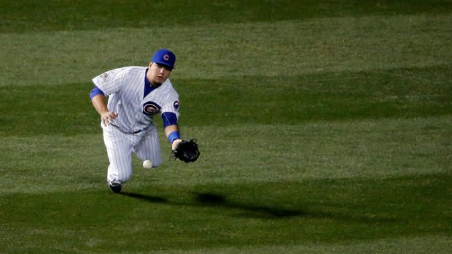 Kyle Schwarber Leaves Cubs Game After Collision With Dexter Fowler | NBC Chicago