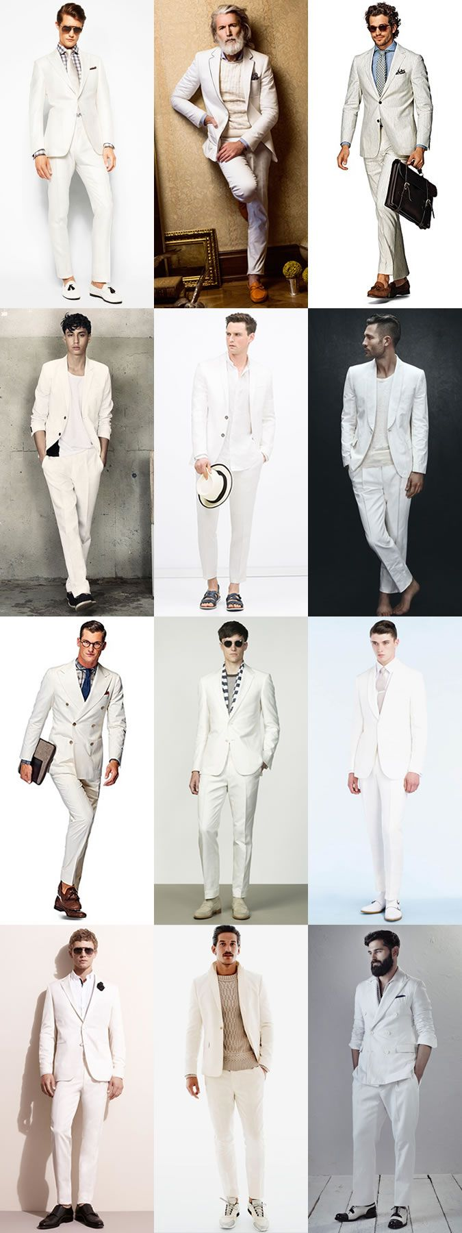 Ways To Wear White-On-White: The Full Suit Lookbook Inspiration