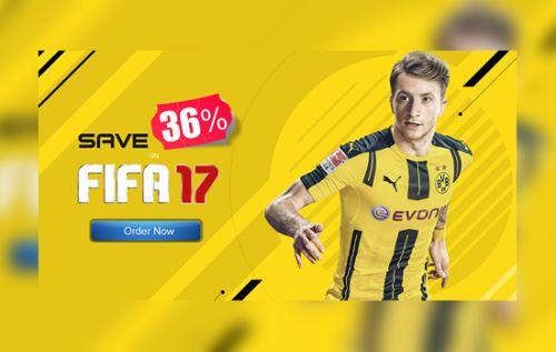 Descuento del 36% en el FIFA 17 en Games Deal