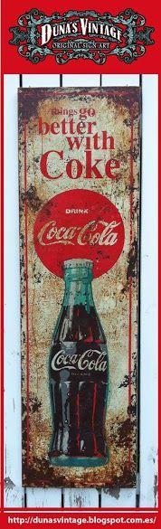 Coca cola Metal sign, Duna´s Vintage.
