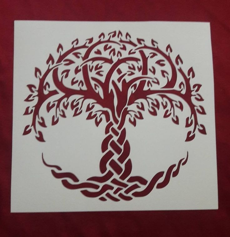 Celtic Tree of Life Reusable Stencil Unbranded Celtic