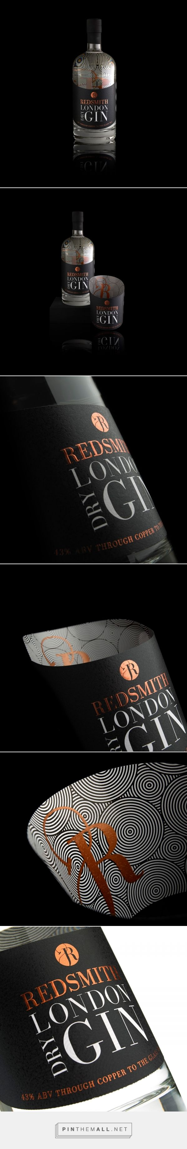 Redsmith London Dry Gin - Packaging of the World - Creative Package Design Gallery - http://www.packagingoftheworld.com/2017/06/redsmith-london-dry-gin.html - created via https://pinthemall.net