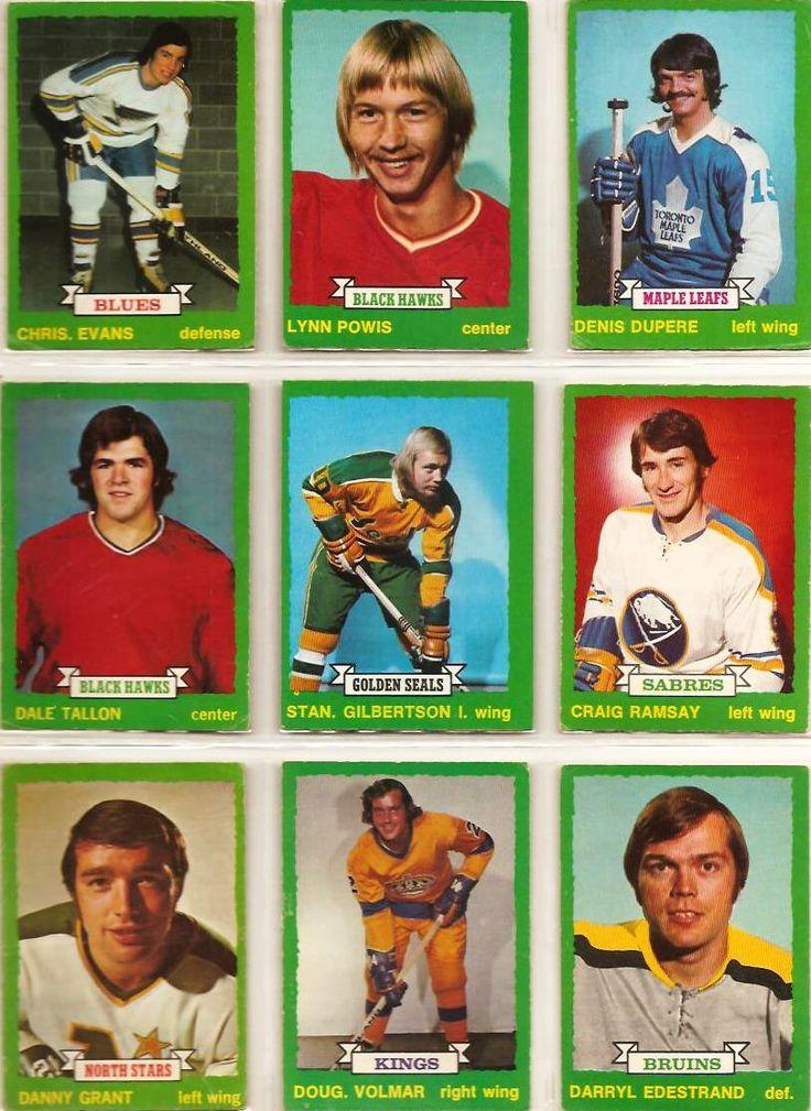 208-216 Chris Evans, Lynn Powis, Denis Dupere, Dale Tallon, Stan Gilbertson, Craig Ramsay, Danny Grant, Doug Volmar, Darryl Edestrand