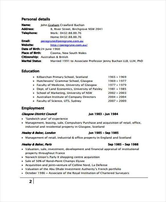 property management   resume for management position with