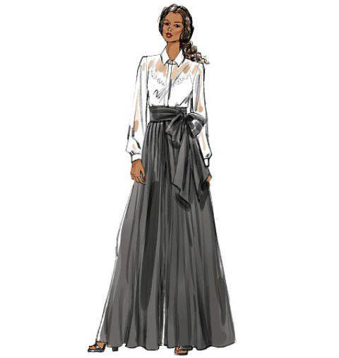 Vogue Fabulous BOHO Palazzo Wide Leg Pant Culottes 8955 Sew Pattern 6-22 #VoguePatterns