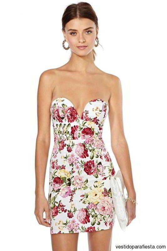 Vestidos de noche cortos floreados