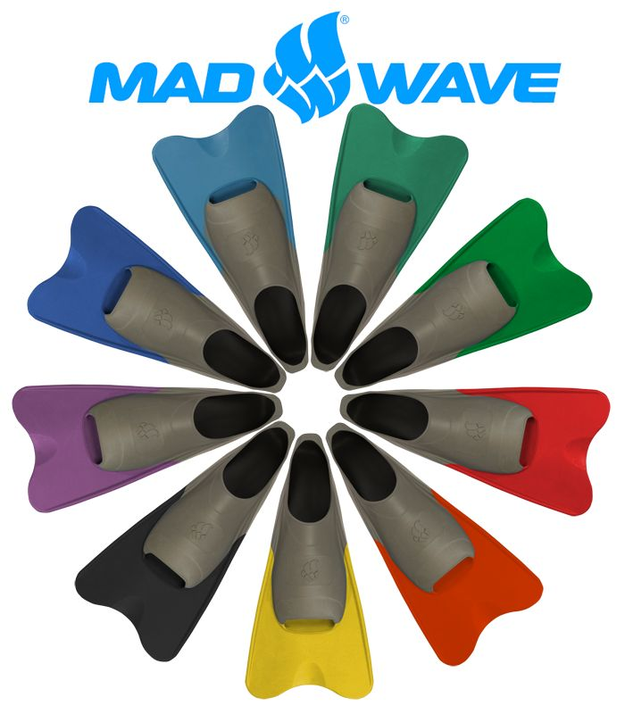 A great selection of coloured fins are available from mad wave!