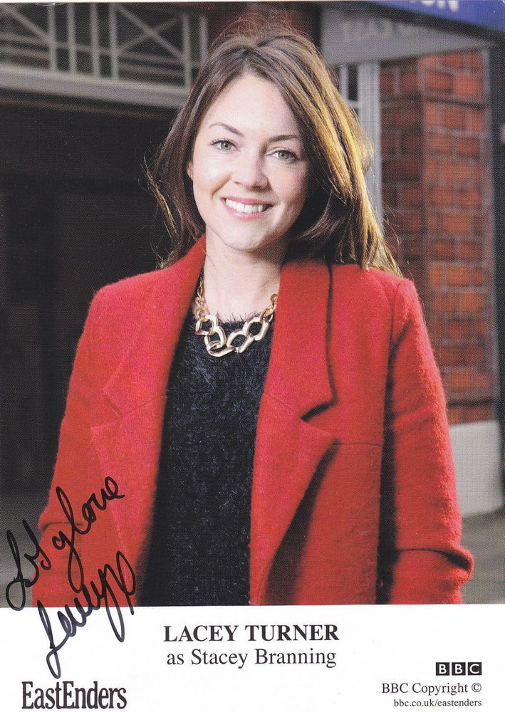 Eastenders LACEY TURNER Signed *NEW* TV Cast Card STACEY BRANNING