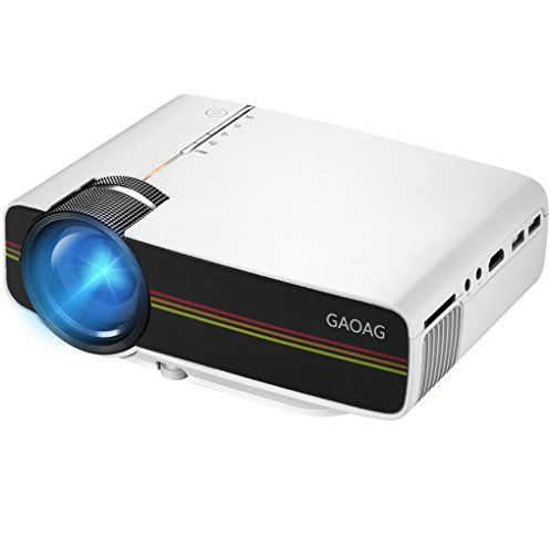 Projector, GAOAG Mini Projector Portable Video LED Projector HD for Outdoor Indoor Movie/Home Cinema Theater/Game (Black) #Projector, #GAOAG #Mini #Projector #Portable #Video #Outdoor #Indoor #Movie/Home #Cinema #Theater/Game #(Black)