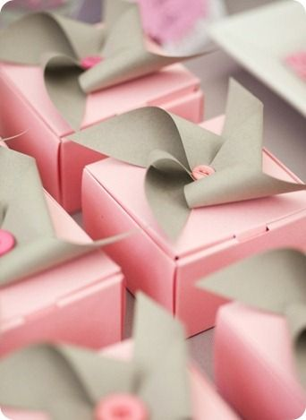 Make your own pin wheels as gift wrap bows