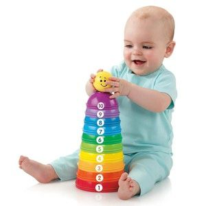 10 Great Toy Ideas for Babies Under 1 Year Old: Fisher-Price Stack and Roll Cups