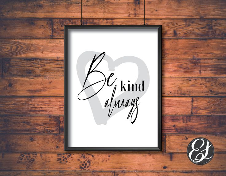 PRINTABLE Be Kind Always Wall Hanging   Wall Decor   Wall Printable   Dining Decor   Kitchen Decor   Living Decor   Office Decor   Digital by ElgraphicsCanada on Etsy