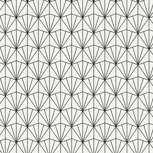 """Modern 33' X 20.8"""" Geometric Fan"""