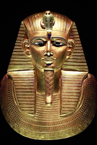 Arte dos faraos Foto4 - Mascara mortuaria do rei Psusennes 1º, que governou durante a 21ª dinastia
