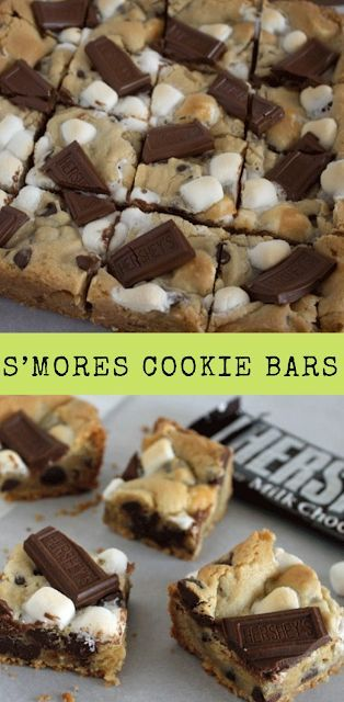 S'mores Cookie Bars – #Bars #Cookie #Smores