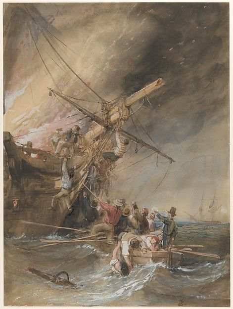 Clarkson Stanfield | Fire at Sea | The Met
