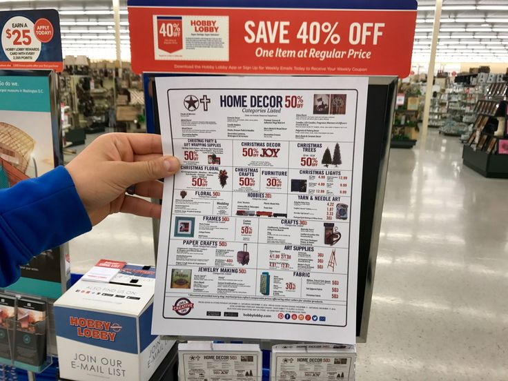 how to know when every item at hobby lobby goes on sale