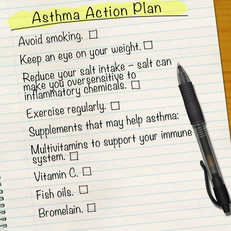 Checklist to help ou cope with the symptoms of asthma.