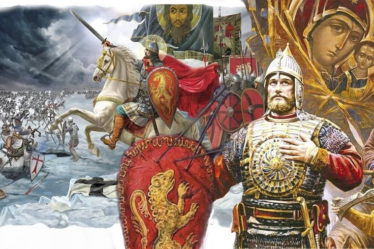 Alexander Nevsky with mirror armour. Artists view of the The Battle On The Ice , 1242 AD