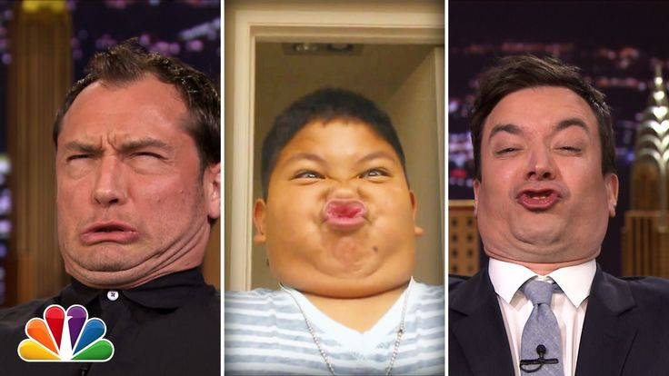 Jude Law Competes Against Jimmy Fallon in a 'Funny Face Off' Challenge with Kids on 'The Tonight Show'