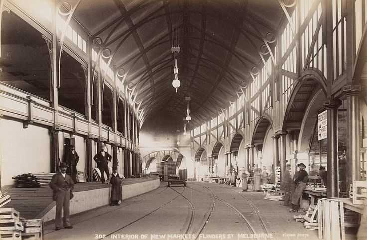 Interior of New Markets Flinders St Melbourne | by State Library Victoria Collections