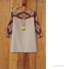 simple batik blouse - choose your fabric and have it tailor made to your measurements by measuring2fit