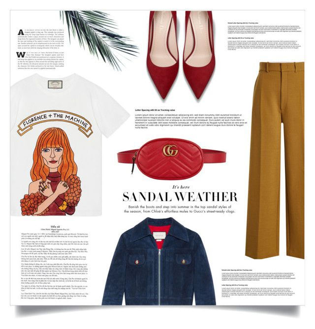 """autumn"" by marijkeuitdewilligen ❤ liked on Polyvore featuring Gucci, Joseph, NYFW, autumn and gucci"