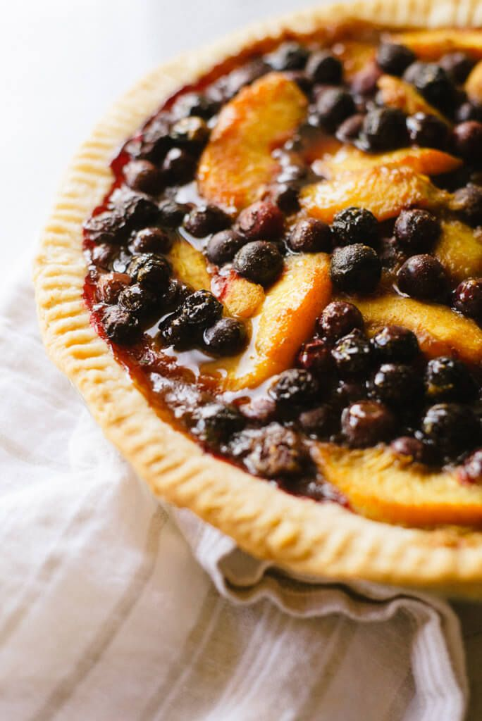 Gluten Free Blueberry Peach Pie! Perfect dessert for summer fruit ...