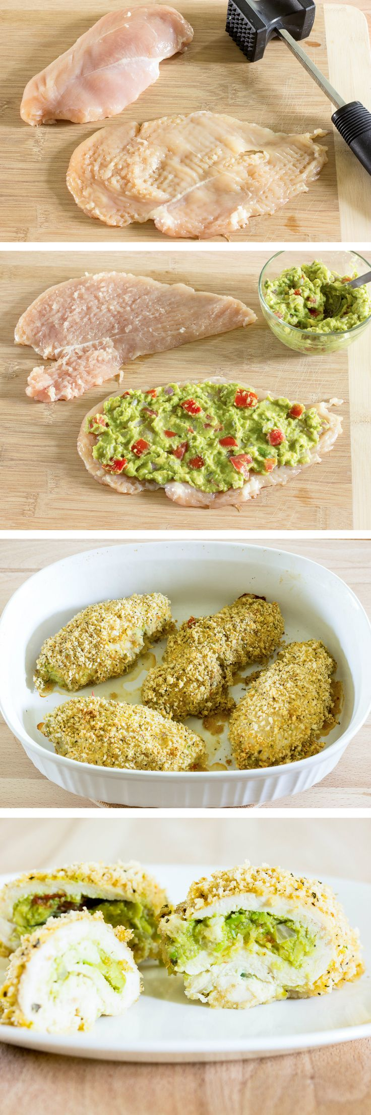 Guacamole Stuffed Chicken Breast - sub panko with almond flour and Parmesan and it's now keto!