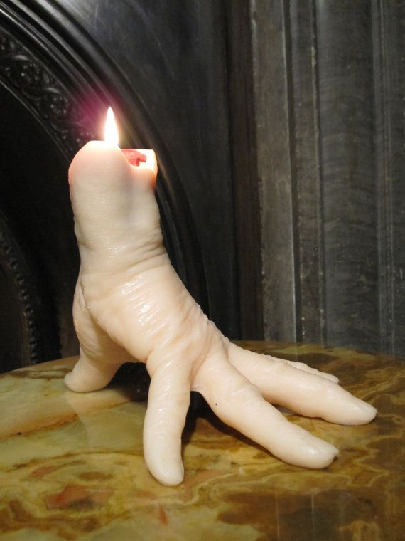 Hammer Horror 'Thing' Hand Candle, cast from a real hand, which BLEEDS as it burns....