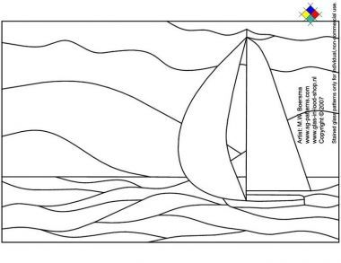 Free Printable Stained Glass Patterns | Free stained glass patterns/sailboat free stained glass pattern - A4 ...