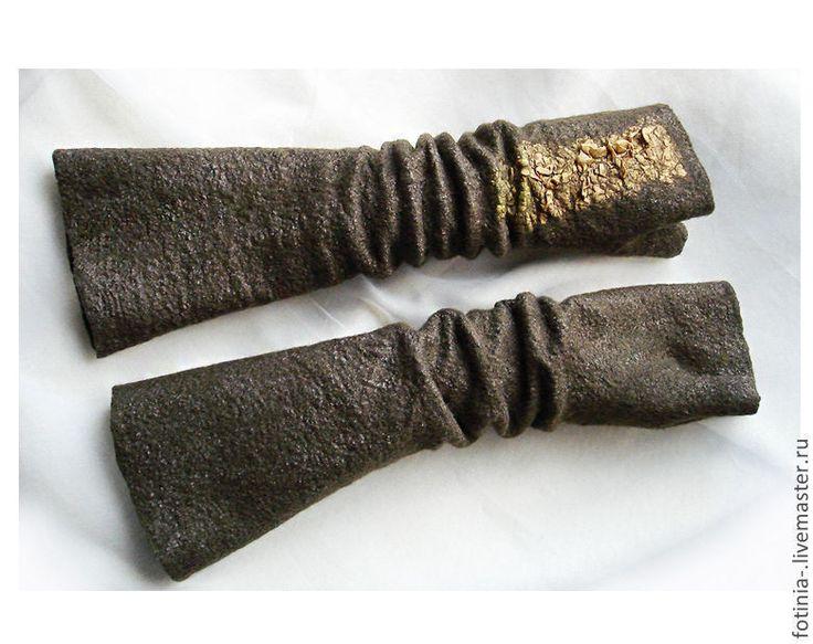 Купить Митенки валяные АВТОЛЕДИ - коричневый, митенка, валяные митенки, митенки валяные, шерстяные митенки