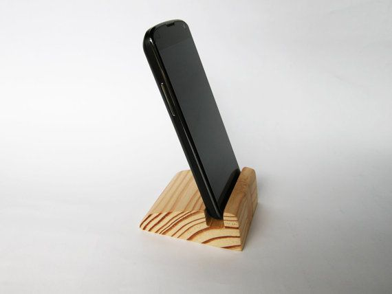 Fathers Day Wood Gift. iPhone stand. Wooden iPhone by Magowood