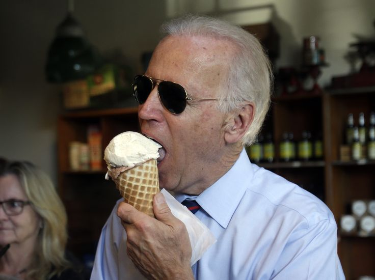 Joe Biden Dined at Ayesha Curry's BBQ Restaurant and Only Ordered (What Else?) Ice Cream