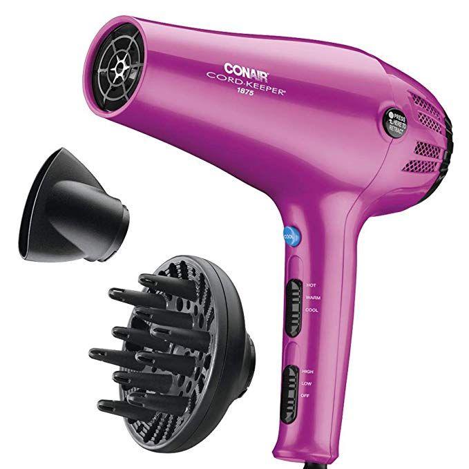 Conair 1875 Watt Cord Keeper Hair Dryer Aqua Beauty Mejores Planchas De Pelo Secador De Cabello Cabello Profesional