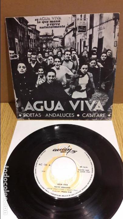 AGUA VIVA. POETAS ANDALUCES. SINGLE / ACCION-1969 / MBC. ***/***